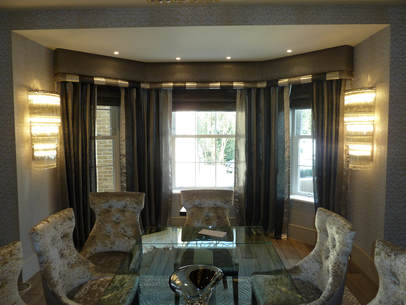 Bespoke curtains, made to measure blinds and matching upholstered chairs made by Bespoke Curtains & Blinds